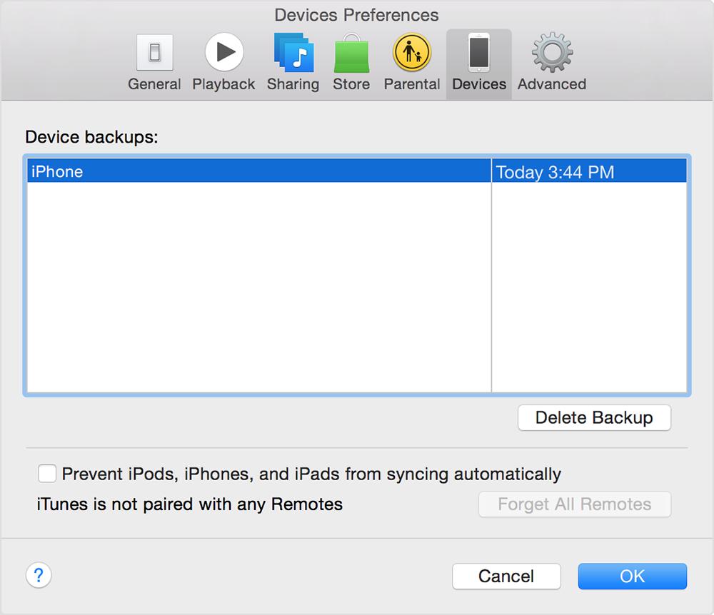 device preference