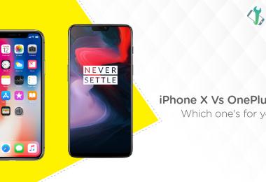 iPhone X vs. OnePlus 6