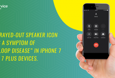 """Grayed-out speaker icon is a symptom of """"loop disease in iPhone 7 & 7 plus devices"""