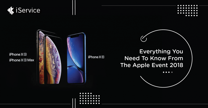 Everything you need to know from the Apple event 2018 - iService blog banner